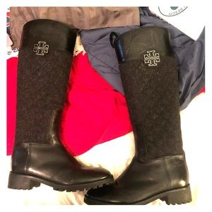Tory burch boots with Wool!